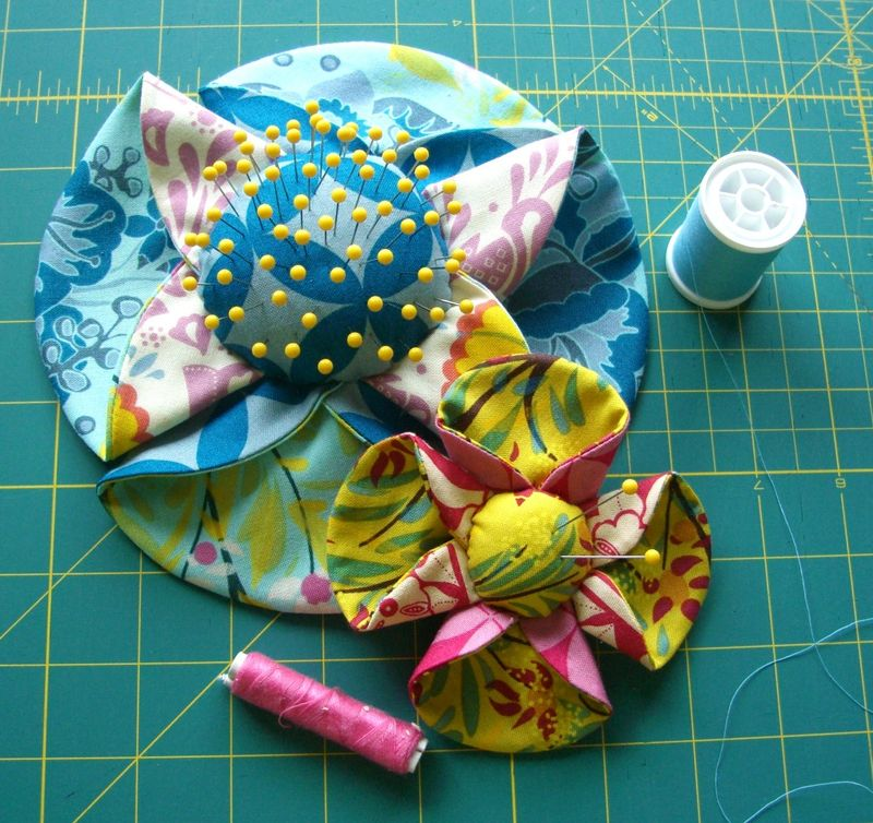 Flower pin cushions