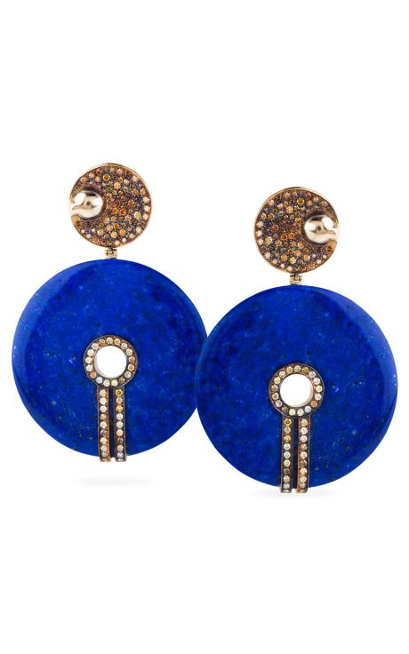 BoChic Lapis and Diamond Earrings
